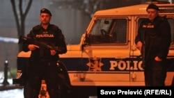 Поліція поблизу американського посольства в Подгориці, Чорногорія, 22 лютого 2018 року