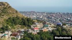 Вид на Каспийское море, Махачкала, архивное фото