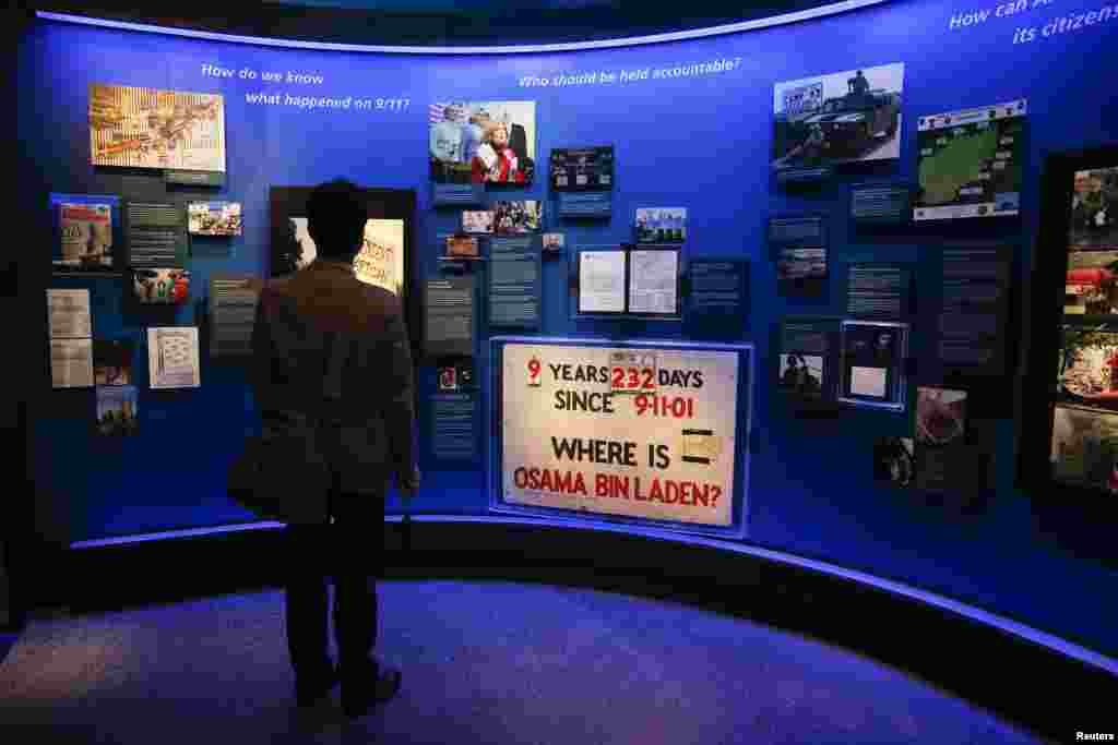An exhibit of artifacts from the years following the September 11 attacks