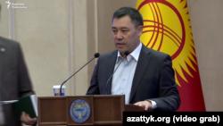 Садыр Жапаров госрезиденции «Ала-Арча». 16 октября 2020 года.