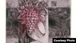 """Ex-libris минијатурна графика """"К.Родел"""" на Зденек Буган."""