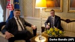 Andrej Plenković i Aleksandar Vučić, Zagreb, fotoarhiv