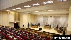 Заля Дому правасудзьдзя, дзе празодзіў працэс Кавалёва-Канавалава