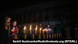 Участники памятной акции в Припяти.