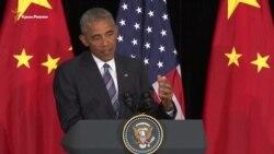 Обама призывает «срочно ускорить» процесс разрешения конфликта в Украине (видео)