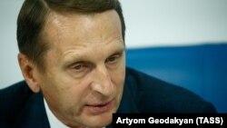 Sergei Naryshkin, the head of Russia's Foreign Intelligence Service