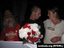 Яўген Васьковіч разам з маці