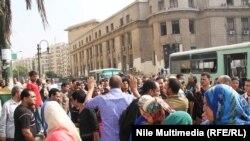 """Сторонники движения """"Братья-мусульмане"""" на акции протеста в Каире. Иллюстративное фото."""