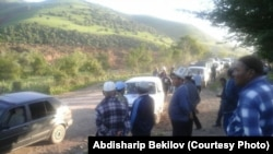 Сузак районундагы Алмалуу-Булак айылындагы жер көчкү.