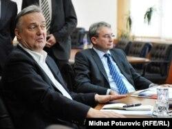 Zlatko Lagumdžija i Mladen Bosić na razgovorima lidera šestorke, 2011.