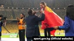 Награждение Анны Булановой.