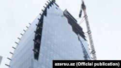 «Azərsu» ASC-nin yeni inzibati binası tikilir.