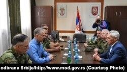 U obilasku jedinica Vojske Srbije bili i predstavnici Ruske Federacije (26. septembar 2021)