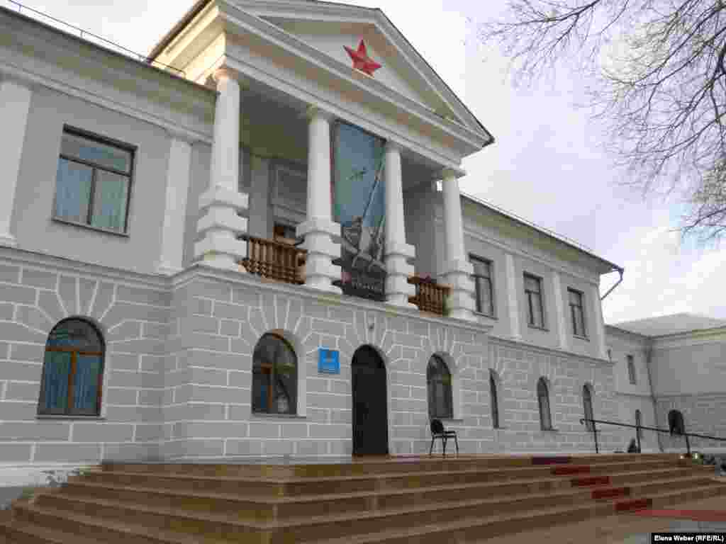 The former main building of the KarLAG system in Dolinka has been renovated to house the Museum of Political Oppression.