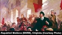 Începutul: liderul bolșevic Vladimir Lenin la Gara Finlandeză din Petrograd (aprilie 1917)