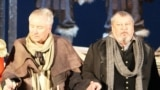 Сяргей Краўчанка (справа) і Віктар Манаеў