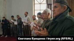Молебень за звільнення Едемa Бекірова. Новоолексіївка, Херсонська область, 21 грудня 2018