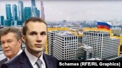 «Схеми» виявили компанію, пов'язану з Олександром Януковичем, сином експрезидента Віктора Януковича, яка є власницею частини елітного бізнес-центру Atlantic у Москві та земельної ділянки під ним