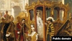 Кронпринц Отто в Будапеште, 1916 г. Картина Дюлы Эдера
