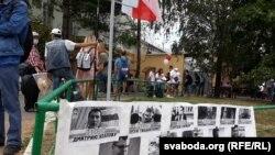 Protest la închisoarea Valadarka Minsk, Belarus, 18 august 2020
