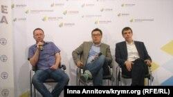 Участники пресс-конференции в Киеве