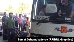 Бишкектеги Чыгыш автобекети (25.08.15)