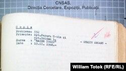 """Notă informativă a lui """"Mayer Iosif"""", în Arhiva CNSAS"""