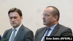 Ministri Orsat Miljenić i Nikola Selaković u Zagrebu, 12. ožujak 2013.