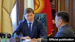 Дуйшенбек Зилалиев на приеме у премьер-министра Сапара Исакова.
