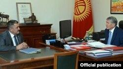 Алмазбек Атамбаев президент кезинде Албек Ибраимовду кабыл алган учуру. 2016-жыл, 29-июнь.