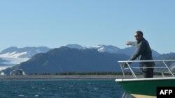 АКШ президенти Барак Обаманын Аляскага жасаган сапары маалында.