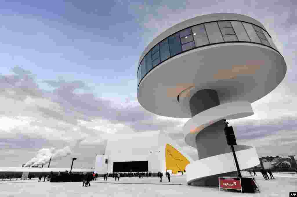 The Niemeyer Center in the northern Spanish city of Aviles, inaugurated in 2011