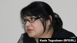 Редактор оппозиционного сайта Nakanune.kz Гузяль Байдалинова.