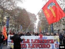 Страйк робітників металевої промисловості в Турині, 12 грудня 2011 року