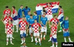 Игроки сборной Хорватии после финального матча.