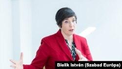 Dobrev Klára Európa Parlamenti képviselő, a DK miniszterelnök-jelöltje
