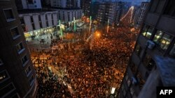 Марш в Бильбао 11 января