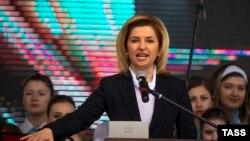 Irina Vlah la ceremonia de învestire în funcția de bașcan de la Comrat la 15 aprilie