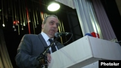 "Armenia - Hrant Bagratian, former Prime Minister of Armenia, addresses the congress of his ""Azatutyun"" (""Freedom"") Party, Yerevan,24Dec,2012"