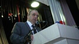 "Armenia - Hrant Bagratian, former Prime Minister of Armenia, addresses the congress of his ""Azatutyun"" (""Freedom"") Party, Yerevan,24Dec,2012"