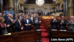 Парламент Каталонии в минуты провозлашения независимости, 27 октября 2017