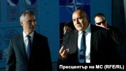 Генералният секретар на НАТО Йенс Столтенберг и премиерът Бойко Борисов