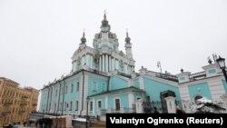 Biserica Sf. Andrei de la Kiev, care a fost vandalizată.15 noiembrie 2018