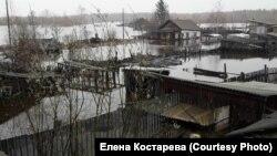 Якутиядағы су басқан ауыл