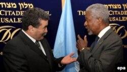 Кофи Аннан и Амир Перец