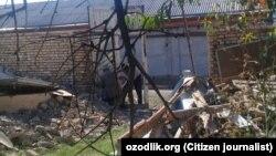 Незаконно снесенный дом жительницы Алтынкульского района Андижанской области Нигорой Бобоназаровой.