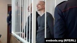 Мікалаў Літошык (зьлева) і Аляксандр Грэковіч, архіўнае фота
