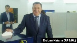"""I expect these elections to confirm the stability of Republika Srpska,"" Bosnian Serb leader Milorad Dodik said after voting."