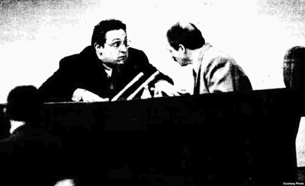 Аляксандар Фядута і Аляксандар Лукашэнка. Менск, 1994.