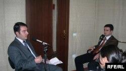 «14-24»ün qonaqları - Azər Bayramov (solda) və Şəmsi Axundov, 5 dekabr 2006